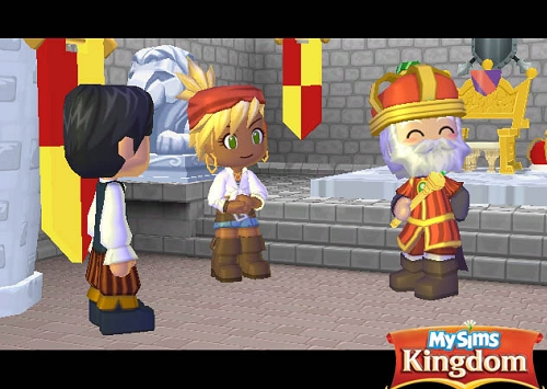 Tela do jogo MySims Kingdom