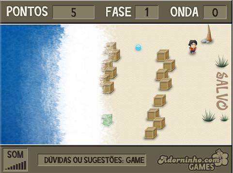 tela do jogo Adorninho contra o Tsunami